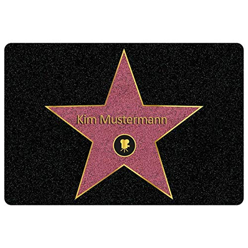 Personalisierte Fußmatte Walk of Fame mit Namen - Geschenke für Männer, Frauen und Paare mit Name personalisiert Muttertag Vatertag