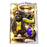 ZPR Baloncesto NBA Muñeca Kobe Bryant, Lebron James Figura Muñeca, Decoración de Coches Cumpleaños, Decoración y Regalos (Color : Kobe Bryant2, Size : H12cm)