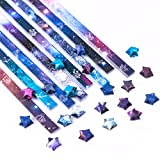 540 Sheets Origami Stars Paper, BENBO Twelve Constellations Decoration DIY Hand Crafts Outer Space Sky Origami Lucky Star Paper Folding Origami Star Paper Strips for Paper Arts Crafts