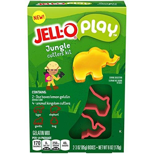 JELLO Play Jungle Cutters Kit Gelatin Dessert Mix (6oz Box)