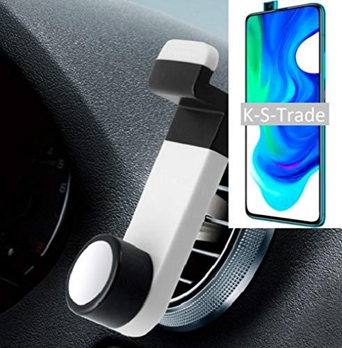 K-S-Trade Smartphone Halterung Autohalterung Für Xiaomi Poco F2 Pro Lüftungshalterung Handy Halter Lüftungsgitter Smartphonehalterung Weiß