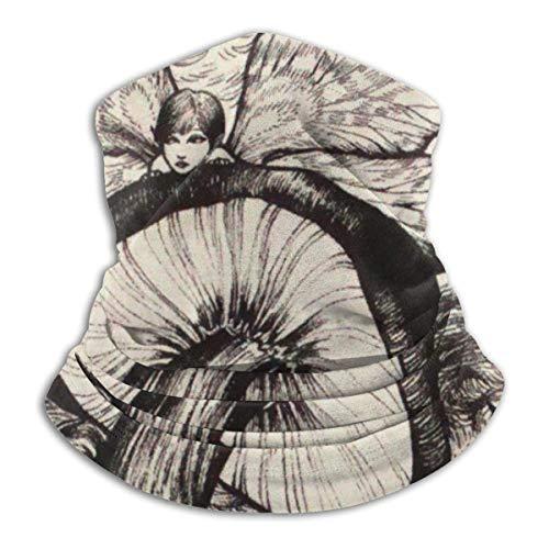 Pilzmuster, schwarz und weiß, aus Molton, wendbar, Haarband