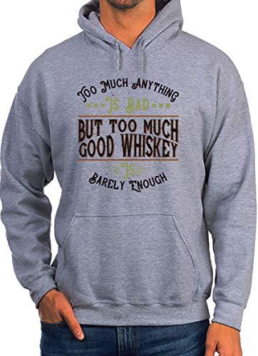 te veel alles wat het slecht maar te veel goede whisky is nauwelijks genoeg wit unisex hoodie