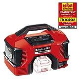 Einhell 4020460 Compressore Ibrido Power X-Change Pressito, 90 W, 18 V, Rosso, Nero, Senza Batteria e Caricabatteria