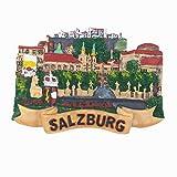 3D-Salzburg Österreich-Kühlschrankmagnet, Heim- und Küchendekoration, Magnetaufkleber, Österreich, Salzburg, Kühlschrankmagnet, Reise-Souvenir, Geschenk