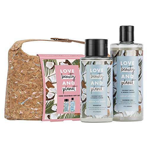 Love Beauty And Planet Coconut Water & Mimosa Flower Shampoo & Shower Gel, Vegan Gift Set for Women, Perfect Stocking Filler