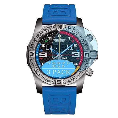 Vaxson 3 Stück Anti Blaulicht Schutzfolie, kompatibel mit Breitling Exospace B55 smartwatch Smart Watch, Displayschutzfolie Bildschirmschutz [nicht Panzerglas] Anti Blue Light