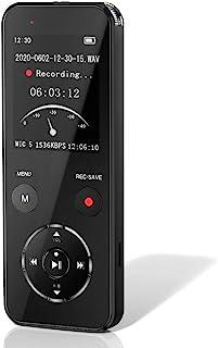 ボイスレコーダー 小型 ICレコーダー 録音機 大容量 16GB 長時間録音 高音質 ハイレゾ録音 音声検知自動録音 盗聴器 液晶画面 定時録音 変速再生 パスワード保護 簡単操作 マイク内蔵 スピーカー内蔵 MP3プレイヤー機能付き 多機能 ...