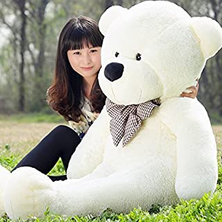 VILAVI 47 White color 120CM Giant Huge Cuddly Stuffed Animals Plush Teddy Bear Toy Doll