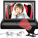 Baby Car Mirror Upgrade Camera, 4.4'' HD Night Vision Function Car Mirror Display with Wide Clear View, Easily Observe The Baby's Move