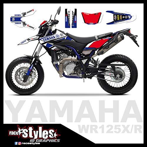Yamaha WR 125 R Full !!! Premium neon DEKOR Decals Sticker Aufkleber KIT 09-17