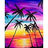 ACANDYL Paint by Number Coconut Tree DIY Oil Painting Paint by Number Kit for Kids Adults Students Beginner Canvas Painting by Numbers Acrylic Oil Painting Arts Craft Coconut Painting 16x20 Inch