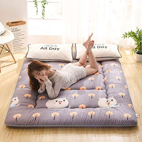 Japanese Traditional Futon Mattress, Non-slip Tatami Mat Sleeping Mat Foldable Mattress Roll-Up Guest Bed for Dorm Bedroom F 80x190cm (31x75inches)