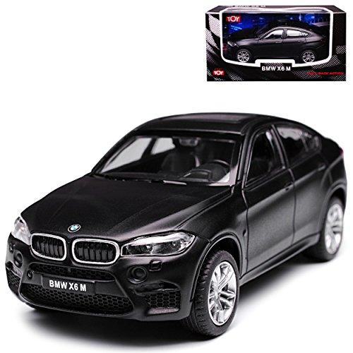 B-M-W X6 F16 M Matt Schwarz 2. Generation Ab 2014 1/43 CMC Toy Modell Auto mit individiuellem Wunschkennzeichen