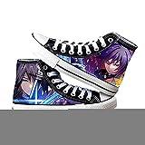Demon Slayer Tomioka Giyuu, Zapatos de Lona para Mujer, Zapatillas Altas para Hombre, Zapatillas de Deporte, Zapatos de Cosplay, Zapatos de Baloncesto de Anime