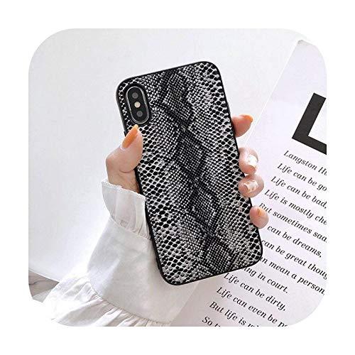 Hopereo Funda de teléfono para iPhone 11 11Pro Max X Xs Max Funda de piel sintética para iPhone 6 6S 8 7 Plus Coque Cover Fundas-E-For Iphone 6 6S