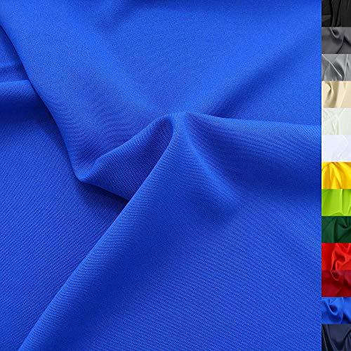 TOLKO Modestoff | Dekostoff universal Stoff zum Nähen Dekorieren | Blickdicht, knitterarm | 150cm breit Meterware (Royal Blau) Bekleidungsstoffe Dekostoffe Vorhangstoffe Nähstoffe Basteln Patchwork Deko