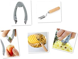 UgyDuky Blue Pineapple Eye Peeler Seed Remover Cutting Clip Stem Remover for Strawberry Potatoes Carrots Tomato Accompany ...