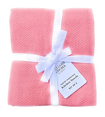 Williams-Sonoma Kitchen Pantry Towels, Set of 4, Geranium Pink