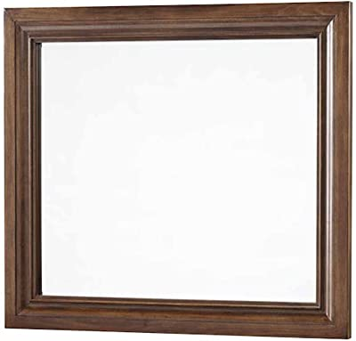 Aprodz Sheesham Wood Tisip Wall Decorative Mirror Frame| Wooden Mirror | Brown Finish