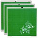 Tuhoomall Lightgrip Cutting Mat 12x12 Inch,for Silhouette Cameo 4/3/2/1 (3 Pcs) Gridded Adhesive Sticky Quilting Cricket Cut Mats