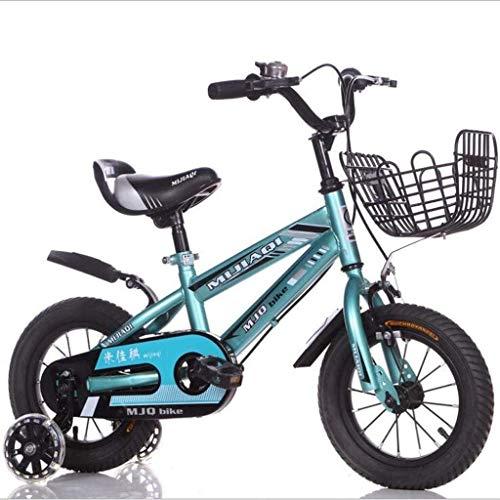 IMBM Kinderfahrrad 16 Zoll männlichen und weiblichen Baby-Spaziergänger 6-7 Jahre alt Mountainbike Kind Vierrad Fahrrad