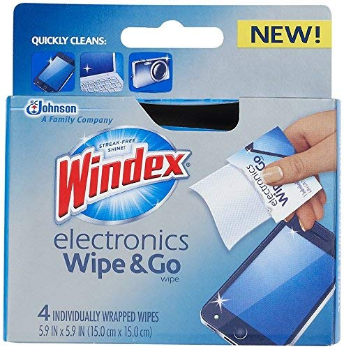 Windex Electronics 'Wipe and Go' Wipes, 4CT (Pack of 3)