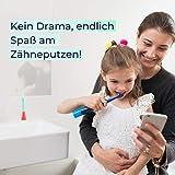 Playbrush Smart Sonic, smarte elektrische Schallzahnbürste für Kinder mit interaktiver Spiele-App (Blau) - 9