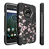 Untouchble Compatible with Moto G5 Plus Case| Motorola Moto G5 Plus Case [Traveler Series] Shock Absorbing Drop Protection Dual Layer Case - Pink Cherry Blossoms