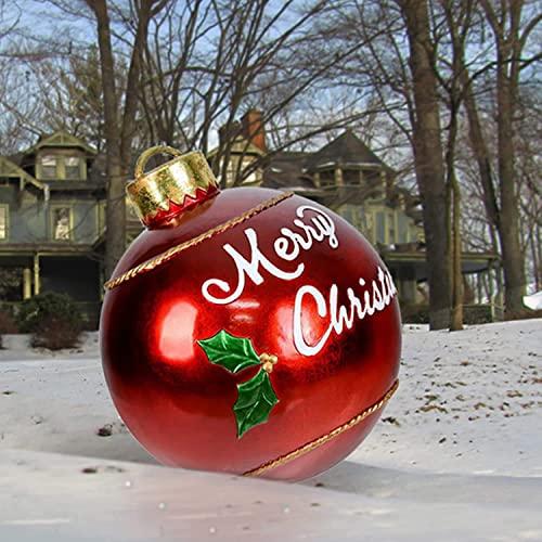 decorazioni natalizie da esterno Palla gonfiabile decorata da 24 pollici