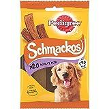 PEDIGREE Schmackos Récompenses multi mix saveurs pour chien, lot de 9 sachets de 20 friandises (9 x 144 g)
