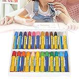 Lápices de colores, materiales de arte, pigmentos de color pastel al óleo, más fáciles de usar con varios colores para la ilustración(23 * 18 * 4cm-New 24 colors (boxed), Santa Claus)