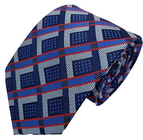 Silk Ties stropdas zijde ruiten 8,5 cm