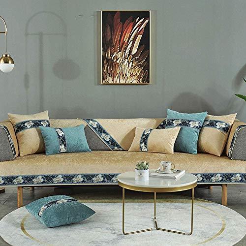 Fundas de sofá Gruesas Impermeables Antideslizantes, Funda Suave Lavable antiácaros, Funda de sofá Caterpillar, para sillón sofá Champagne 70x240cm (28x94 Pulgadas)
