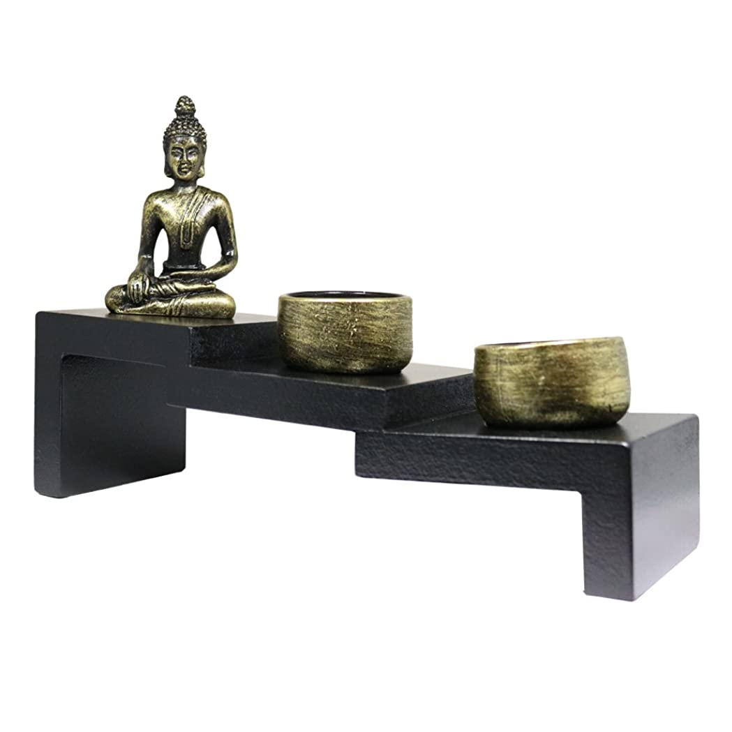 普通に好ましい良さ(Buddha Stairs) - Tabletop Incense Burner Gifts & Decor Zen Garden Kit with Statue Candle Holder USA SELLER (Buddha Stairs G16285)