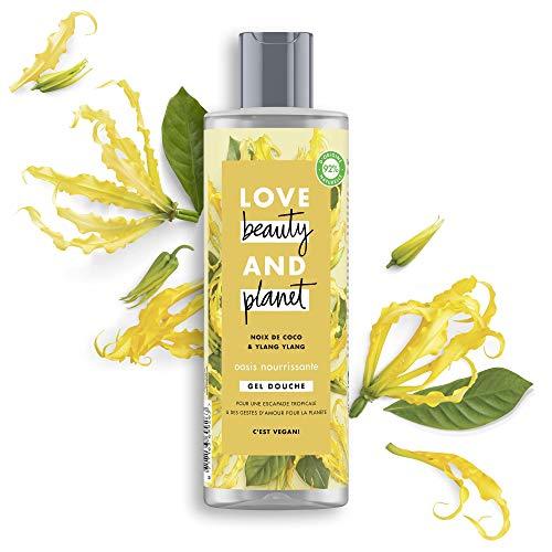 Love Beauty & Planet Gel Douche Femme Vegan Oasis Nourrissante, Huile de Coco Bio et Fleur d'Ylang Ylang Certifié Vegan 400ml