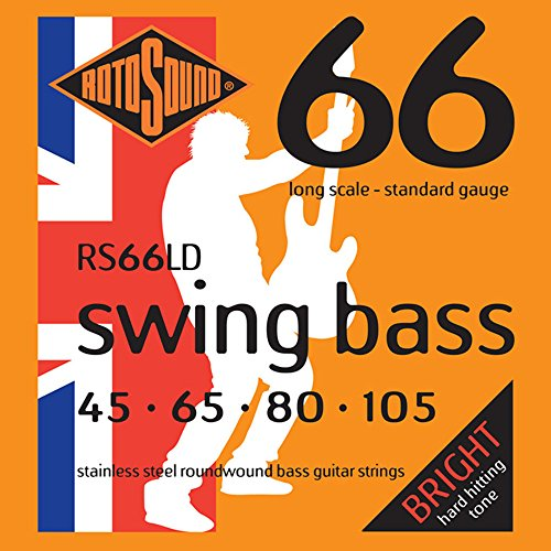 Rotosound Stainless Steel Standard Gauge Roundwound Bass Strings (45 65 80...