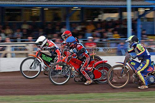 Speedway Foto von Andy Evans Photos, Fujicolor Crystal Archivpapier, multi, 22,9 x 15,2 cm