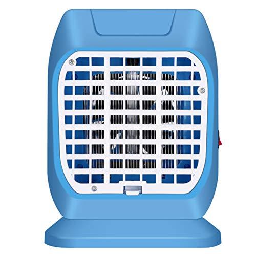Silent Vierkante UV Sanitizer Ontsmet Light, USB Ultraviolet Mosquito Tafellamp Met Elektrische Schok Doden Functie En Sterilisatie Snelheid Tot 99,9%,Blue