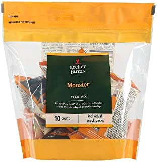 Archer Farms Monster Trail Mix 10 Individual Snack Pouches