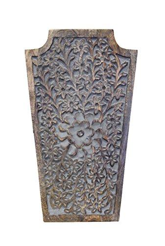 Keyhomestore Wäschekorb aus Holz, Dekoriert, Orientalisch, Einrichtungsstil, Maße: 37 x 22 x 10 cm