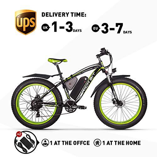 RICH BIT. E-Mountainbike 1000W Fett E-Bike Herren 26-Zoll Beach Cruiser Ebikes 48V * 17 Ah, Starke Leistung Geeignet für jedes Gelände (mit zweitem Ladegerät)