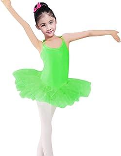 Tiaobug Ragazza Bambina Vestito da Danza Classica 2 Pezzi Top Pantaloncini Leotard Body del Ventre Balletto Ginnastica Tuta Spalline Incrociate Dancewear