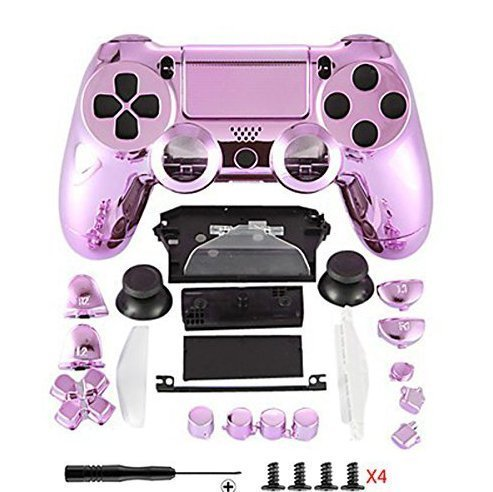 Canamite® - Cover per joystick Playstation PS4, 4 DualShock, 4 Controller, cromato, PS4, 4#