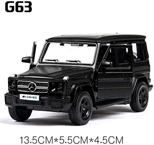 Model auto's 1:36 Diecast Car Model Rover Range Rover Metal Car Wheels Simulation Pull Back Car Collection Kinder Gift dljyy ( Color : Matte black G63 )