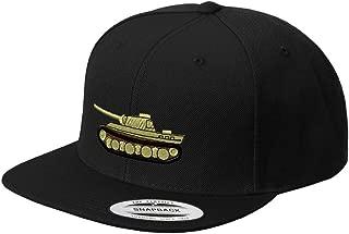 Custom Snapback Baseball Hat WWII Army Military Tank Embroidery Unit Acrylic Cap