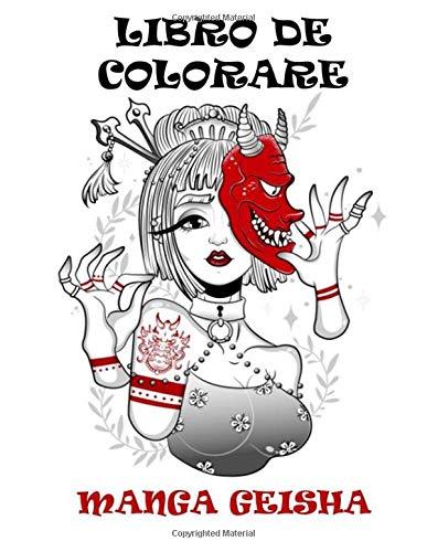 Libro da colorare: manga geisha