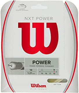 Wilson NXT Power 18 Gauge Multifilament Tennis String in Multi-Packs (2-4-6-8-Packs)