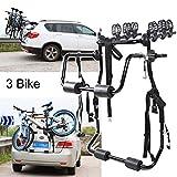 HEWXWX Portacargas Bicicletas, 3 Bicicleta Trasera Car Carrier-Ajustable Altura Buena Estabilidad Acero Carbono Firme Estructura Soporte Carga 150 Kg Adecuado para Sedan Hatchback SUV Van