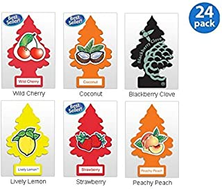Little Trees Assorted Air Freshener Fruit (Pack of 24)